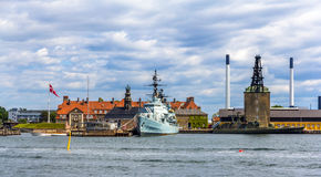 Holmen naval base in Copenhagen Royalty Free Stock Images