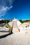 Holmenkolen跳高滑雪在夏天 库存照片