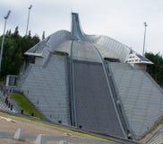 Holmenkollbakken em Oslo imagem de stock