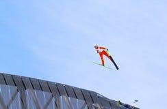 holmenkollen hoppet skidar Royaltyfria Foton