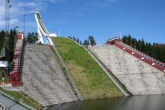 Holmenkollen Ski Jump. In Oslo, Norway. This is the old ski jump - There is a new one in place now Stock Image