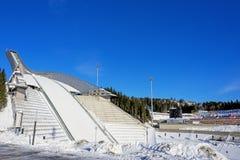 Holmenkollen ski jump in Oslo Norway Stock Photo