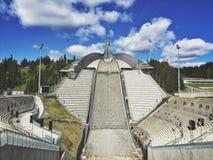 Holmenkollen Ski Jump Tower Imágenes de archivo libres de regalías