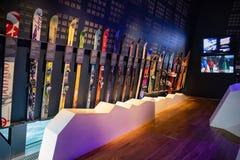 Holmenkollen ski museum. On the base of the ski jump in Oslo, Norway stock photos