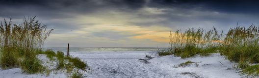 Holmes Beach. Panoramic view of Holmes Beach, Anna Maria Island,Manatee County,America royalty free stock photo