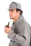 Holmes de Sherlock avec la pipe images stock
