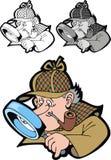 Holmes di Sherlock royalty illustrazione gratis