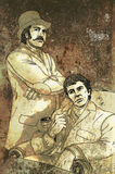 Holmes e Watson ilustração royalty free
