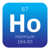 Holmium chemical element Stock Images