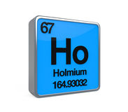 Holmium Element Periodic Table Stock Photography