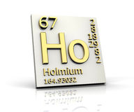 Holmium form Periodic Table of Elements Stock Photos