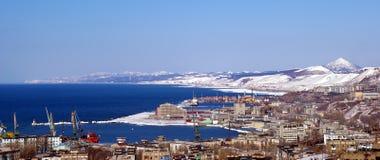 holmsk海岛萨哈林岛城镇 库存图片