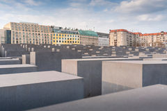 The Holocaost monument in Berlin stock image