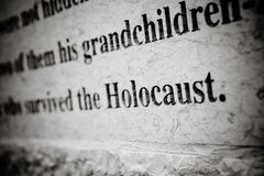 Holocaust Carving Royalty Free Stock Photos