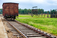 Holocaust Death Camp cattle car train Stock Images
