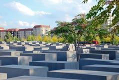 Holocaust-Denkmal ist ein berühmter Berlin-Markstein Lizenzfreie Stockbilder