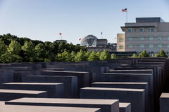 Holocaust Memorial, American Embassy and Reichstag Royalty Free Stock Images