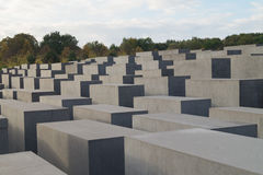 Holocaust Memorial. In Berlin Memorial to the Murdered Jews of Europe Royalty Free Stock Images