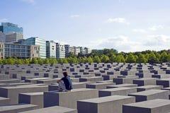 Holocaust memorial berlin, germany stock image