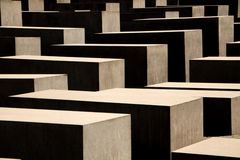 Holocaust memorial in Berlin, Germany Royalty Free Stock Image