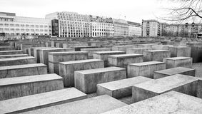 Holocaust memorial in Berlin, Germany Royalty Free Stock Images