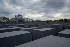 Holocaust Memorial in Berlin Stock Photos