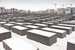 Holocaust memorial in Berlin, Germany Royalty Free Stock Photos
