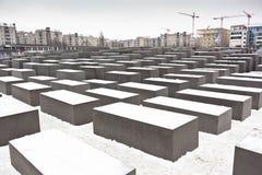 Holocaust memorial in Berlin, Germany Royalty Free Stock Photos