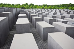 Holocaust Memorial Berlin. Overview of holocaust memorial in Berlin Germany Royalty Free Stock Photo