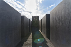 Holocaust Memorial in Berlin Stock Photography