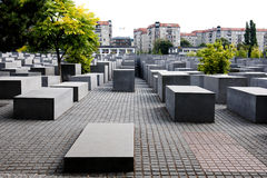 The Holocaust Memorial in Berlin Royalty Free Stock Images