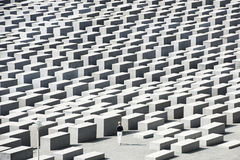 Holocaust Memorial Berlin - Woman Stock Photography