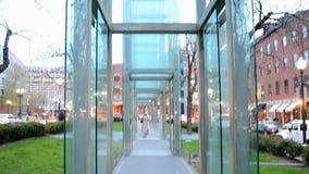 Holocaust Memorial, Boston, USA, stock footage