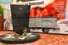 Holocaust Memorial Stock Photo