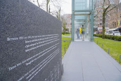 The Holocaust Memorial in the city of Boston - BOSTON , MASSACHUSETTS - APRIL 3, 2017 royalty free stock images