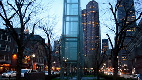 Holocaust Memorial from glass, Boston, USA, stock video footage