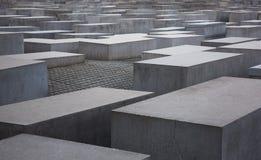 Holocaust memorial. Jewish Holocaust memorial in Berlin stock photo