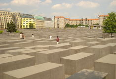 The Holocaust Memorial - Memorial to the Murdered Jews of Europe, Berlin Stock Photography