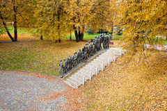 Holocaust memorial in Minsk, Belarus. Stock Photo