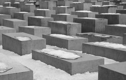 Holocaust memorial monument in Berlin Royalty Free Stock Image