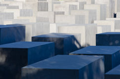 Holocaust Memorial. A view on the Holocaust Memorial in Berlin. There are 2,711 concrete blocks. It reminds on the murdered Jews of Europe. It is located in the Royalty Free Stock Image