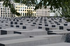 Holocaust monument in Berlin Royalty Free Stock Photos