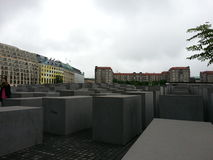Holocaust MONUMENT IN BERLIN Stock Images