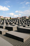 Holocaust Monument Berlin Germany. Large Holocaust memorial in the center of Berlin Germany Stock Photo