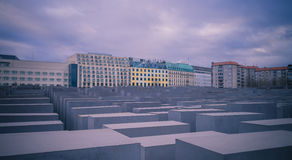 Holocaust monument in Berlin, Germany Stock Photo