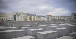 Holocaust monument in Berlin, Germany Royalty Free Stock Photo
