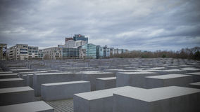 Holocaust monument in Berlin, Germany Royalty Free Stock Images