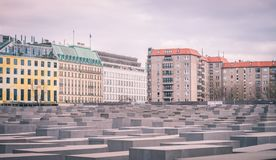 Holocaust monument in Berlin, Germany royalty free stock photography