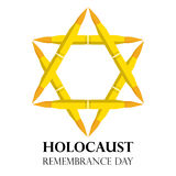 Holocaust Remembrance Day, May 5, Jewish star made from rifle bullets,  illustration Royalty Free Stock Photography