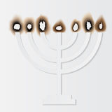 Holocaust Remembrance Day, paper menorah. Vector illustration Royalty Free Stock Images